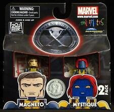 2011 MARVEL MINIMATES TOYS R US X-MEN FIRST CLASS MAGNETO & MYSTIQUE FIGURES MIP
