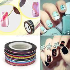 30 Fili Striping Strisce Nastro Adesivo Tape Unghie Nail Manicure Decorazione