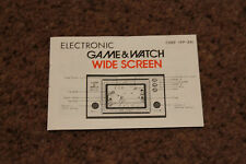 GENUINE NINTENDO GAME AND WATCH CHEF FP-24 INSTRUCTION MANUAL NICE CONDITION