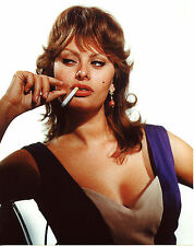 Sophia Loren Smoking 8x10 photo T2179