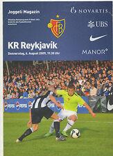 Orig.PRG   Europa League  2009/10   FC BASEL - KR REYKJAVIK  !!  SELTEN