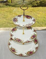 Royal Albert Old Country Roses Fine Bone China England Three Tier Cake Stand