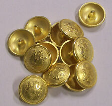 8pc 18mm Germanic British Inspired Gold Metal Military Blazer Button   2082