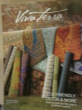 VIVA TERRA SPRING 2016 CATALOG ECO LIVING STYLE INSPIRED GREEN LIVING BRAND NEW