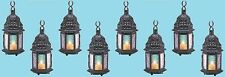 "Magic Rainbow Glass Candle Lantern 10 1/4"" (Set of Eight) Wedding Supplies 14119"