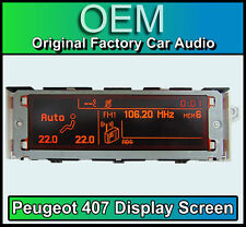 Peugeot 407 display screen, RD4 radio LCD Multi function clock dash Brand New!!!
