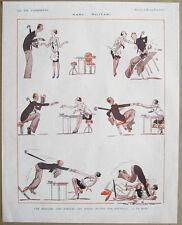 La Vie Parisienne dibujos animados de Fournier 1926 impresión torpes hombre ha Manicura Pedicura