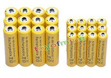12 AA + 12 AAA 3000mAh Ni-Mh yel batteria ricaricabile