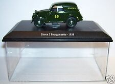 UNIVERSAL HOBBIES UH SIMCA 5 FOURGONNETTE 1938 POSTES POSTE PTT 1/43 BOX OCCASIO