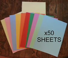 50 x Sheets of A4 Coloured Card (10 Colours) 230 Micron