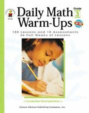 Daily Math Warm-Ups, Grade 3: 180 Lessons and 18 Assessments; 36 Weeks of Lesson