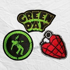 Set Green Day Embroidered Patches Warning American Idiot Billie Joe Armstrong