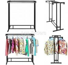 Garment Floor Display Rack Heavy Duty Hanging Clothes Hanger Double Rod Organize