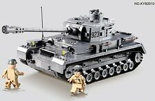 Large German Panzer IV Tank c/w Army Figures Compatible Building Bricks 1193pcs
