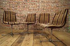 Set 4x Vintage 70s Stuhl Lounge Chairs 70er Loft Sitzgruppe Mid Century Design