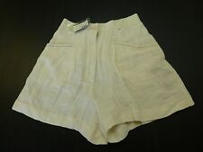 The Limited Womens Size 2 Ivory Linen Blend High Waisted Shorts New