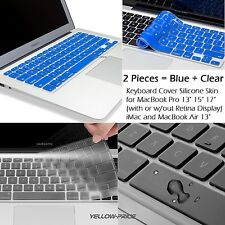 2-Packs Silicone Keyboard Cover Skin For Apple Macbook Pro MAC 13 15 17 Air 13