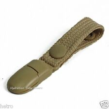 Tan lanyard Drink tube clip holder, for camelbak ambush, source tactical, packs