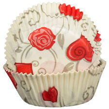 Love Roses Cupcake Cases x60 Baking Muffin Rose Floral Valentine