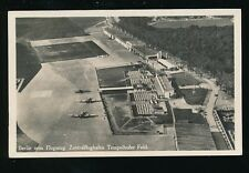 Civil Aviation Germany BERLIN Airport from plane Aerial c1930s? RP PPC