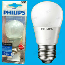 1x 3W Philips LED Regulable Golf Bombilla, ES, E27 Lámpara Rosca Globe