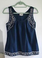 Converse, Shirt, Blue, Sleeveless, S