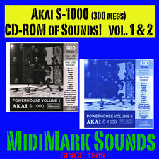 Akai s-1000, Power House Vol. 1 & 2  CD ROMs mpc-4000