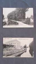 CPA 70 Haute-Saône. Port-sur-Saône. L'hôtel de ville et le canal. 1910