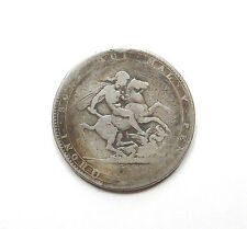 Antique Sterling Silver GEORGE III 1819 CROWN COIN