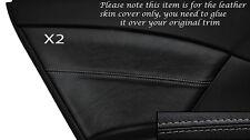 Gris stitch 2x carte de porte arrière garniture peau couvre Fits Honda Civic se se-t ex 12 +