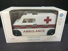 Pottery Barn Kids Wooden AMBULANCE Vehicle Pretend Play Valentine Easter GIFT NW