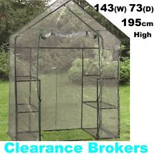 NEW Walk In Greenhouse Small Green Hot Shade House Seedling Sturdy Frame Shelves