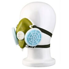 Dual Respirator Gas Mask Anti-Dust Twin Chemical Spray Paint Safety Headwear F7