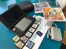 Blue Nintendo 3DS XL 12 RARE GAMES New Pokemon Sun and Moon HeartGold soulsilver
