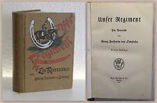 von Ompteda Unser Regiment Ein Reiterbild 1913 Militärgeschichte Militaria xz