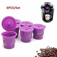 6pc Refillable Reusable Coffee Capsule K-cup Filter For Keurig 2.0 & 1.0 Brewers