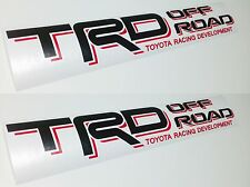TRD OFF ROAD DECALS 2PCS 3X19 INCH Toyota Tacoma Tundra VINYL SPORT STICKER