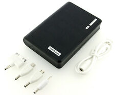 Black 12000mAh Double USB Portable External Battery Power Bank For Cell Phone US