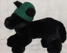 """Gund Eddie Bauer Exclusive Plush Black Labrador Stuffed Dog 1998 Green Hat 13"""""""