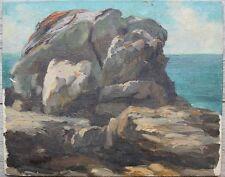 Adrien Henri GILLOT (1883-1948) PAYSAGE DE MER - ROCHERS - TRES BELLE QUALITE