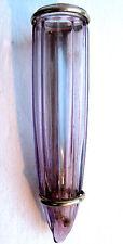 Bouquetière de voiture style Napoléon III vase porte-bouquet conique verre mauve