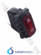 Rojo Rocker interruptor On / Off Doble Impermeable Bellow Sello 30x11mm 3 Pin Terminal
