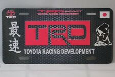 TRD Fits TOYOTA RACING DEVELOPMENT TRD JDM ALUMINUM LICENSE PLATE SIGN