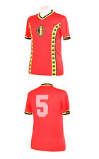 BELGIUM 1982 WORLD CUP RENQUIN 5 RED REPLICA SHIRT SMALL S