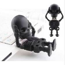 Fashion Cool Black Skeleton Skull model USB 2.0 Memory Stick Flash pen Drive 8GB
