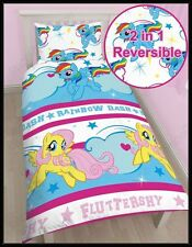 MY LITTLE PONY REVERSIBLE SINGLE/TWIN QUILT COVER SET NEW
