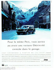 PUBLICITE ADVERTISING 125  1998  Jeep Cherokee  command -track