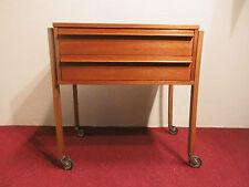 Teak Nähkasten Nähwagen sewing box mid century modern design 60s 60er