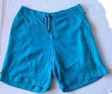 JMS Women's Plus Size Blue Casual Shorts 1X