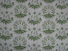 "WILLIAM MORRIS CURTAIN FABRIC ""Primrose & Columbine"" 3.5 METRES THYME/ECRU"